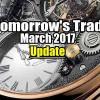 Update of Tomorrow's Trade Portfolio to Mar 19 2017