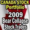 Canadian Stock Portfolio 2009 Bear Market Stock Trades