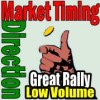 Market Timing / Market Direction Best Rally On Low Volume