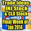 JNJ and CLX Stock – Trade Ideas For Last Week of January 2014