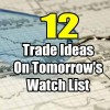 12 Trade Ideas On The Watch List for Fri Feb 16 2018
