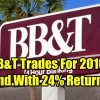 BB&T Stock Trades For 2016 Ends The Year Up 24.5%