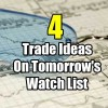 4 Trade Ideas On Tomorrow's Watch List for Aug 17 2017
