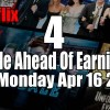 4 Trade Ahead Of Earnings Strategy Setups for Monday Apr 16 2018 – The Week Ahead