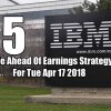 5 Trade Ahead Of Earnings Strategy Setups for Tue Apr 17 2018 – The Week Ahead