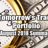 Tomorrow's Trade Portfolio for August Up 0.77% In 3 Days