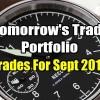 Tomorrow's Trade Portfolio Ideas for Fri Sep 28 2018