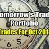 Tomorrow's Trade Portfolio Ideas for Fri Oct 19 2018
