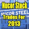 Nucor Stock (NUE) Trades For 2013