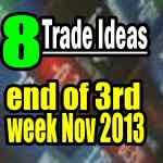 eight trade ideas third week of nov 2013