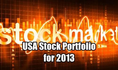 USA Stock Portfolio for 2013