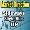 Market Direction sideways slight bias up