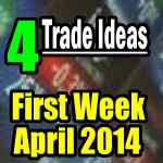 Four trade ideas for first week of April 2014