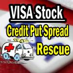 Visa stock Credit Put Rescue