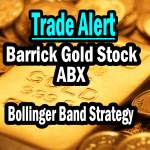 ABX Stock Trade Alert Bollinger Bands Strategy Trade May 5 2014