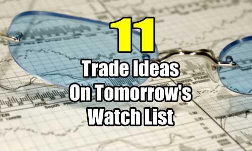 11 trade ideas on tomorrows watchlist