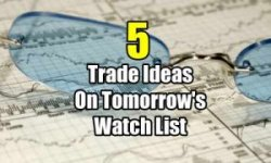5 trade ideas for tomorrow's watch list