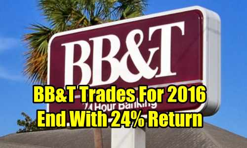 BB&T Stock trades for 2016
