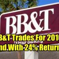 BB&T Stock Trades Ends With 24% Return