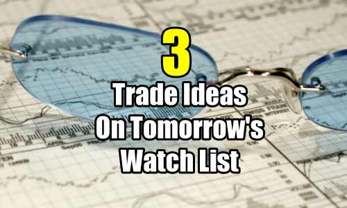 3 trade ideas on tomorrow's watch list