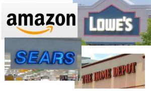 Amazon clobbers home depot and Lowes with sears deal