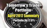 Tomorrow's Trade Portfolio -April 2017 review