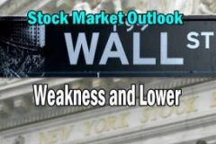 Stock Market Outlook Weakness and Lower