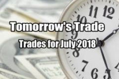 Tomorrow's Trade for July 2018