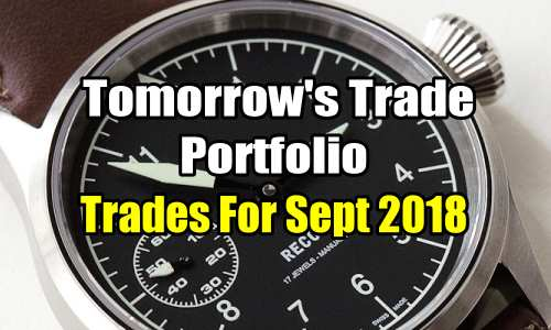 Tomorrow's Trade Portfolio Trades for Sep 2018