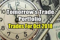 Tomorrow's Trade for Oct 2018