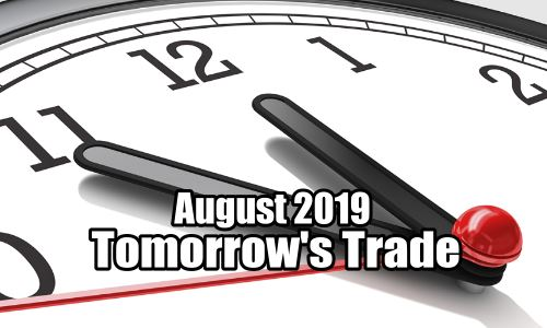Tomorrow's Trade Portfolio for Aug 2019