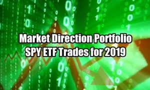 Market Direction Portfolio SPY ETF Trades summary for 2019
