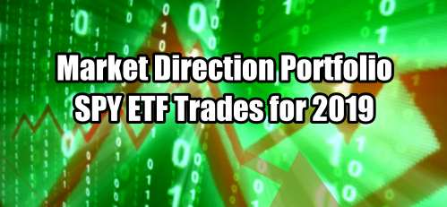 Market Direction Portfolio SPY ETF Trades for 2019 Summary