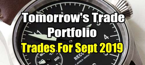 Tomorrow's Trade Portfolio for September 2019