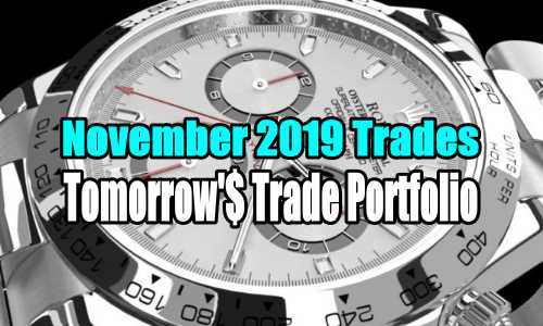 Tomorrow's Trade Portfolio -November 2019 Trades