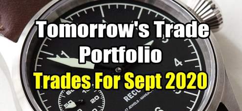 Tomorrow's Trade for September 2020