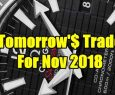 Tomorrow's Trade Portfolio Ideas for Mon Nov 12 2018
